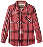 PETROL INDUSTRIES Shirt Long Sleevs-Camisa Niños,    Rojo (Faded Red) 12 años (Talla fabricante: 152)