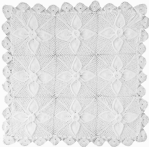 Handmade Baby Blanket in Crystal White (100% Hand-knitted)