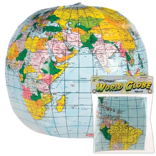Toysmith Inflatable Globe Toy - 1