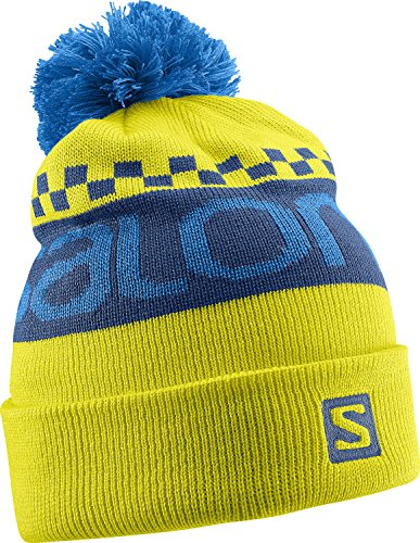 Salomon - Berretto Free, Unisex, Mütze Free Beanie, Light Alpha Yellow/Midnight Blue/Union Blue, taglia unica