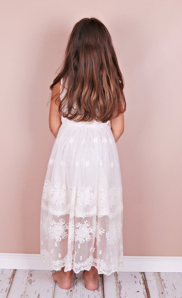 Bow Dream Flower Girl's Dress Vintage Lace 3