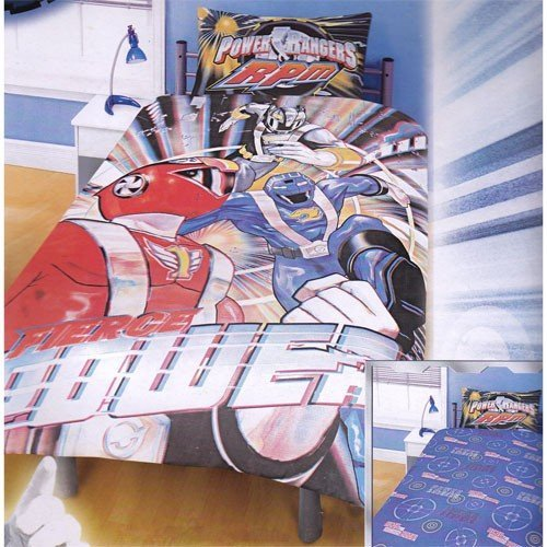 Find Cheap Childrens/Kids Power Rangers RPM Print Reversible Bedding Duvet Cover and Pillowcase (Twi...