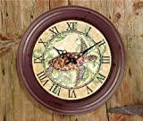 Sea Turtle Metal Wall Clock (18 inch)