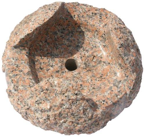 Nva Creative Garden Granite 6688041 16-Inch Nandina Fountain Stone, Orange/Red front-943875