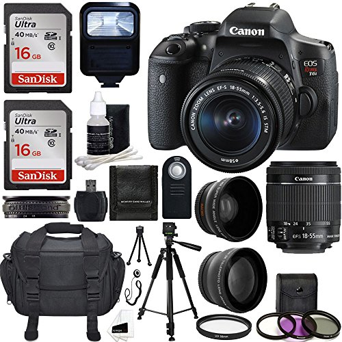 Discover Bargain Canon EOS Rebel T6i DSLR CMOS Digital SLR Camera with EF-S 18-55mm f/3.5-5.6 IS STM...