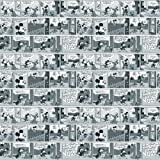 Imperial Disney Home DF059692 Mickey Comic Strip Wallpaper, Black and White, 20.5-Inch Wide