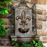 French Lily Outdoor Wall Fountain Iron Finish