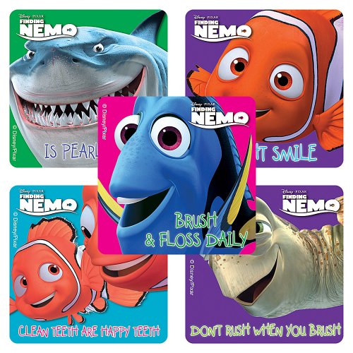 Disney Finding Nemo Dental Stickers - 75 per Pack