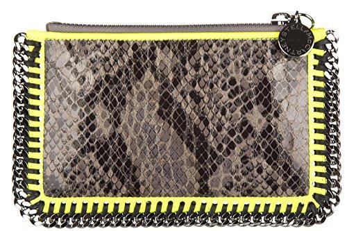 Stella Mccartney pochette a mano donna nuova originale faux python mini grigio