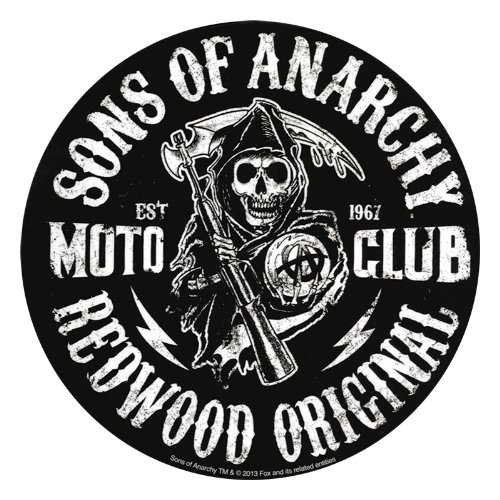 Sons Of Anarchy Moto Club Reaper Sticker