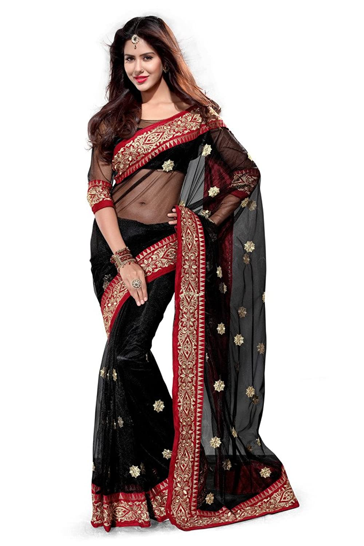 Net Zari Saree(Black)