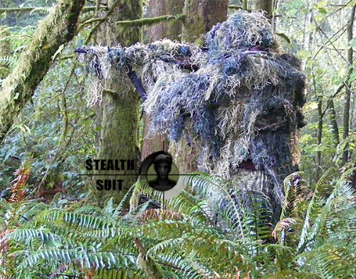 StealthSuit Paintball Sniper 4-Piece Woodland Ghillie Suit
