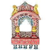 Rajgharana Handicrafts Multi Color Wooden Small Jharoka - (15 Cm X 12 Cm)