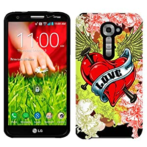 Amazon.com: Sprint LG G2 Love Heart Tatto on Black Phone Case Cover