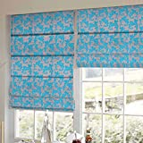 Presto Bazaar Blue Abstract Printed Window Blind (60 Inch X 44 Inch)