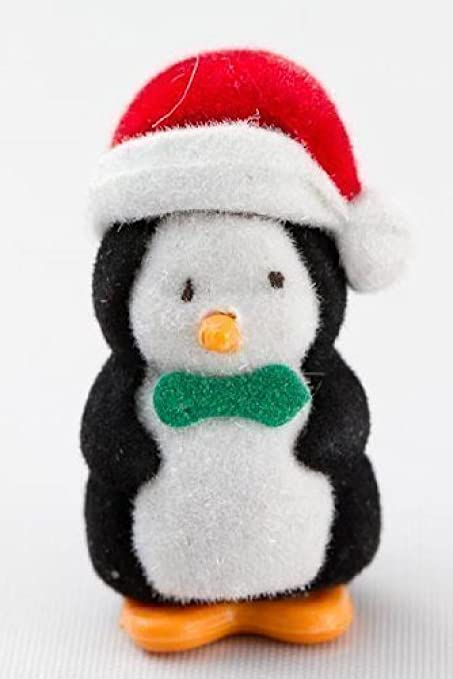 Set of 12 Miniature Flocked Baby Christmas Penguins