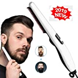 Beard Straightener Comb,Quick Electric Heated Beard Brush Beard Styler for Men, Travel Portable Styling Comb beard iron, Multifunctional Hair Straightening Brush (Color: Style-2)