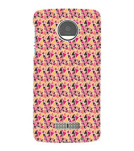 Colourful Pattern 3D Hard Polycarbonate Designer Back Case Cover for Motorola Moto Z :: Motorola Moto Z Droid in USA