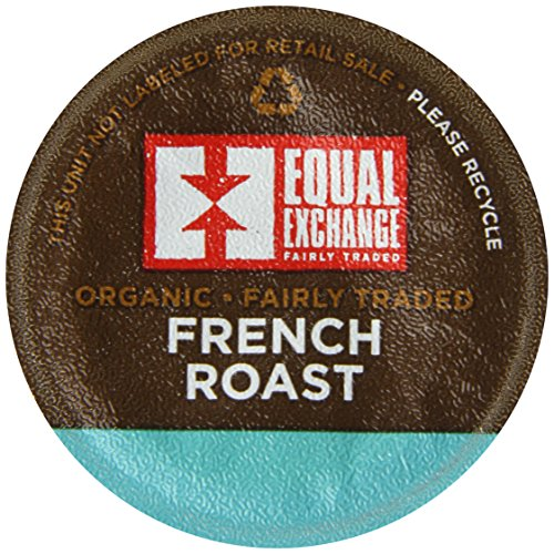Equal Exchange Organic French Roast Single Serve Cups, 4.65 Ounce (Pack Of 12)