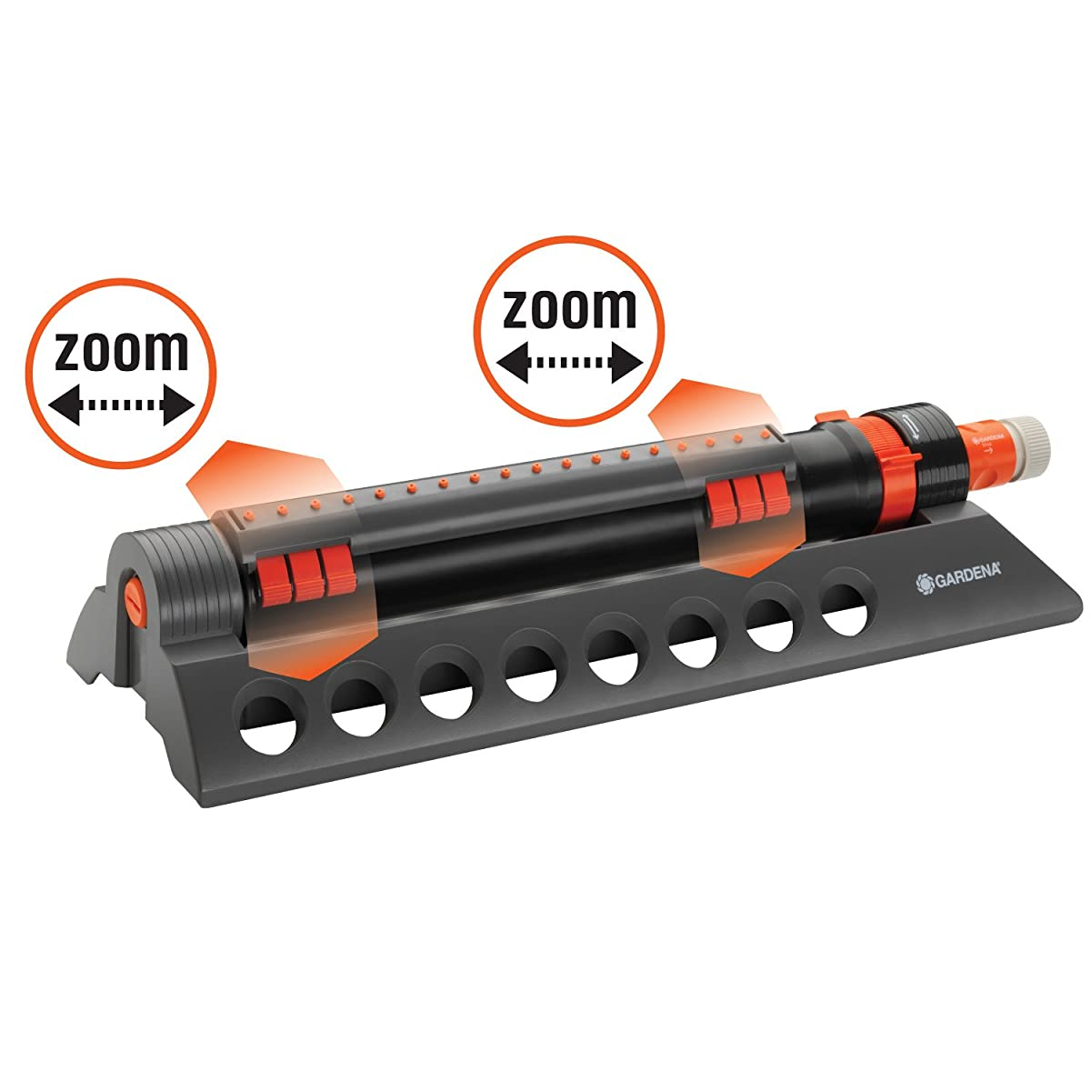 Gardena 34200 Comfort 3900-Square Foot Aqua Zoom Oscillating Sprinkler with Adjustable Width and Flow Control