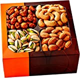 Gourmet Food Nuts Holiday Gift Basket, 4 Different Delicious Nuts! Kosher, Vegan, Vegetarian Friendly Gift Tray. Perfect for Any Occasion, Love It or Its Free! -Five Star Gift Baskets