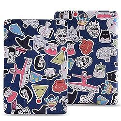 KolorFish iCrazy Designer Leather Stand Flip Case Cover for Apple iPad Mini, iPad Mini 2, iPad Mini 3