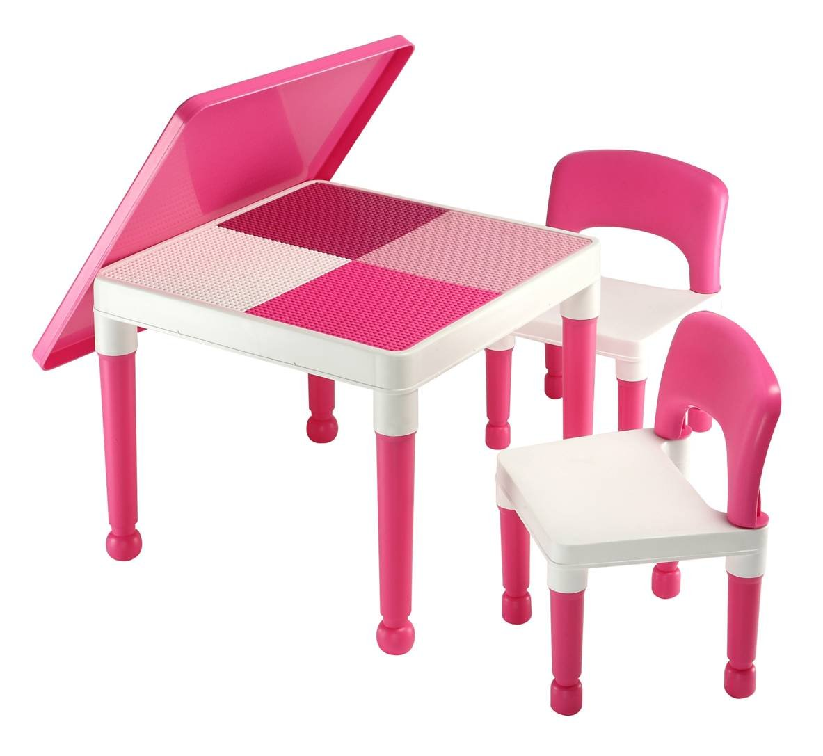 NEW Abracadabrazoo Exclusive Girls Pink 2 in 1 Construction Play – Girls Table and Chair
