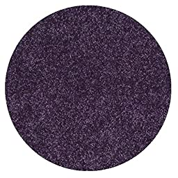 Round 9\' Kids Crossing Purple Grape Jelly 30z Indoor Area Rug