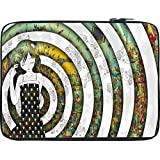 Snoogg Girl On A Coloful Pattern 2779 13 To 13.6 Inch Laptop Netbook Notebook Slipcase Sleeve