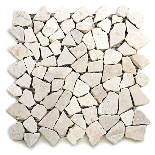 divero-9-matten-33-x-33cm-marmor-naturstein-mosaik-fliesen-fur-wand-boden-bruchstein-creme