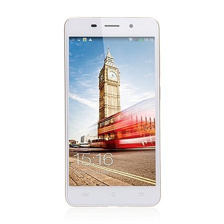 CUBOT X9 telephone débloqué Or, 5.0 pouces, 3G Octacore Dual SIM, Android 4.4 KitKat IPS HotKnot Smartphone MTK6592 + 2G RAM 16G, caméra 8.0MP; GPS WIFI, étui protecteur et protecteur d'écran inclus
