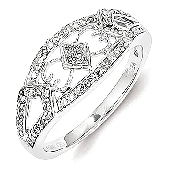 Sterling Silver Diamond Fashion Ring