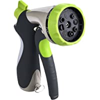 VicTsing Garden Hose Spray Metal Water Nozzle with 10 Washers (Green)