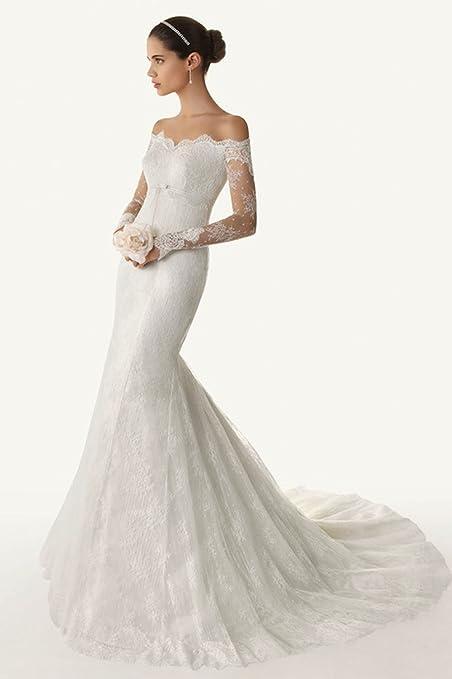 Elle Bridal Off Shoulder Long Sleeve Lace Wedding Dress 18 Plus