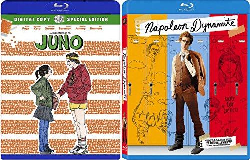 Napoleon Dynamite & Juno Double Feature Blu Ray Fun Comedy movie Set Combo Edition