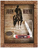Case Cutlery CA10691 John Wayne Barnboard Equestrians Knife with Display Hunting Knives