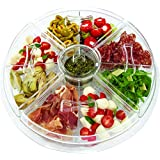 Jumbl 8-Section Ice-Chilled Revolving Appetizer Tray w/Vented Ice Chamber