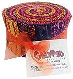 "Benartex CALYPSO BALI BATIKS Jelly Roll 2.5"" Precut Cotton Fabric Quilting Strips Assortment"