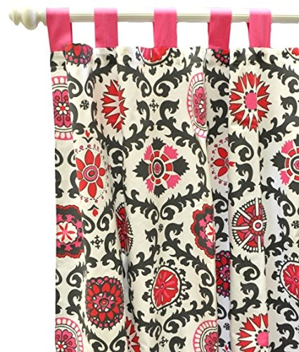 New Arrivals Curtain Panels, Ragamuffin in Pink, 2 Count - 1