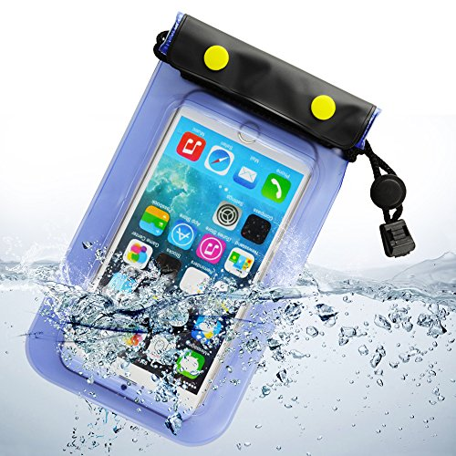 SumacLife discount duty free Sumaclife Universal Waterproof Cell Phone Case for Apple Iphone 6 Plus 6/ LG G3 / BLU Advanced 4.0(Blue)
