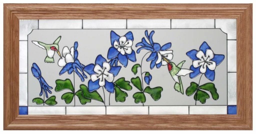 framed stained glass images