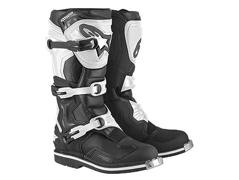 Alpinestars tech 1 bottes de bottes en noir et blanc