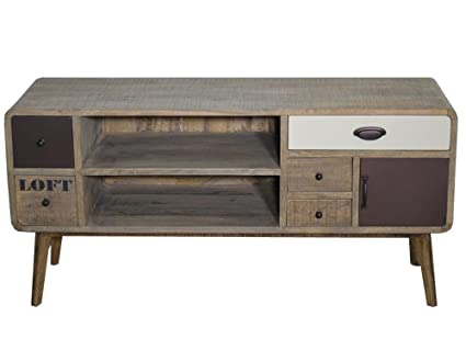 Madera mesa consola RTV pecho de cajones Vintage francés Retro Loft