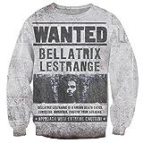 Sweaters Animal 3D Print Harry Potter Bellatrix Lestrange Vintage Sweatshirts (S)