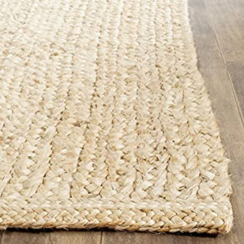 Safavieh Natural Fiber Collection NF461A Hand-Woven Braided Natural Jute Area Rug (6 Square)