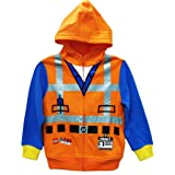 Lego Big Boys' Movie Costume Hoodie, Orange, 10/12 (Color: Orange, Tamaño: 10/12)