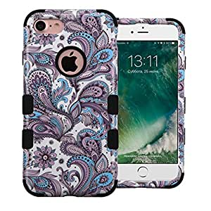 iPHONE 7 Case, Phonelicious (Tm) APPLE iPHONE 7 [Slim Fit][Heavy Duty] Ultimate Tuff Drop Protection Rugged Cover (PAISLEY)