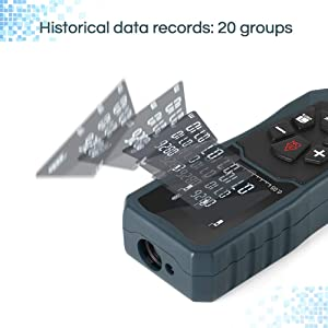 Digital Laser Distance Meter 197FT/ 60M, INLIFE Backlit LCD Laser Measure, Laser Measuring Device with Single-distance, Continuous, Area, Volume Measu