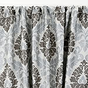 "Amazon.com: Fiori Damask Lined Seaglass 3"" Rod Pocket Curtain Panel"