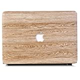 Tip-top PU Leather LOGO See Through Hard Case Wood Grain Protective Skin Cover Shell for MacBook 12 Inch with Retina Display A1534 [2017 / 2016 / 2015 Release] (Wood Grain8) (Color: Wood Grain8, Tamaño: 13 Inches)
